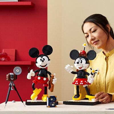 高さ36cm、総ピース数1,734の大人向けミッキー&ミニーのレゴが7/1 AM10:00~販売開始予定。