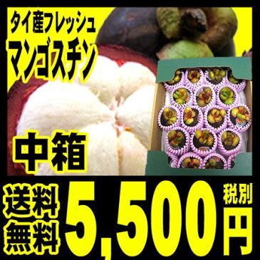 マンゴスチン【予約受付】【送料無料】タイ産 フレッシュ マンゴスチン 中箱 (約14〜20個入り)一番品質が良い農園のものにこだわって航空便(エアー)で輸入しました。「北海道・沖縄は+540円」