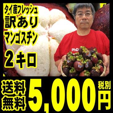 訳ありマンゴスチン【予約受付中】【送料無料】タイ産 フレッシュ(生) 訳あり マンゴスチン 2キロ (約25〜35個入り)一番品質が良い農園のものにこだわって「北海道・沖縄は+540円」