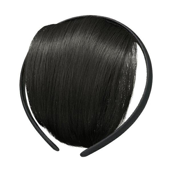 資生堂 クリエーターズマルシェ バング付きカチューシャJY サテンBK/BK【黒い前髪】 誰でも簡単に楽しくヘアアレンジできるバング付きカチューシャ