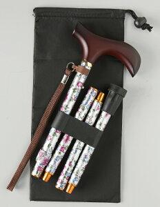 【レビューを書いて送料無料】【ウェルファン】夢ライフステッキ折りたたみ伸縮型杖スリムタイプ専用替えゴムプレゼント☆
