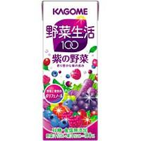 野菜生活100/紫の野菜/KAGOME/カゴメ 野菜生活100 紫の野菜 紙パック(200ml×24本)【5,250...