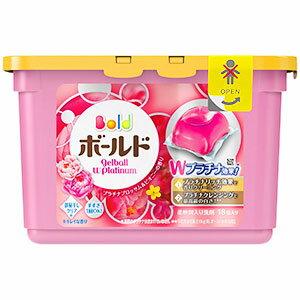 ボールド洗濯洗剤液体ジェルボールダブルプラチナプラチナブロッサム&ピオニーの香り本体352g(18個入)