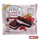 6個セット バランスアップ クリーム玄米ブラン 苺のブラウニー (1枚×2袋)