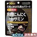 医食同源ドットコム 黒酢にんにく+セサミン 90粒 RICH メール便送料無料