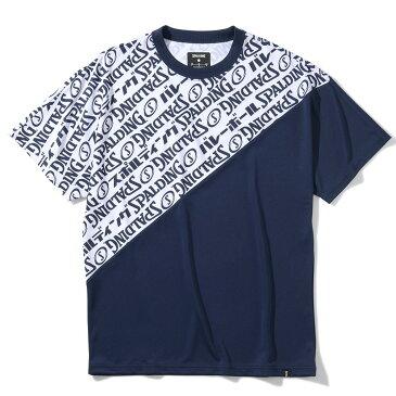 バレーボール Tシャツ ロゴグラフィック SMT200750 | 正規品 SPALDING スポルディング バレーボール バレー ウェア 練習着 半袖 シャツ メンズ レディース 男性 女性 ユニセックス 男女兼用