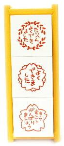ほめて育てる♪かわいいスタンプ◆【スタンプ 浸透印】NEW サンビー先生スタンプ 3本組【たいへ...