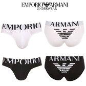 エンポリオアルマーニ ブリーフ イーグル ストレッチ コットン メンズ アンダーウェア ロゴあり CC725 110814
