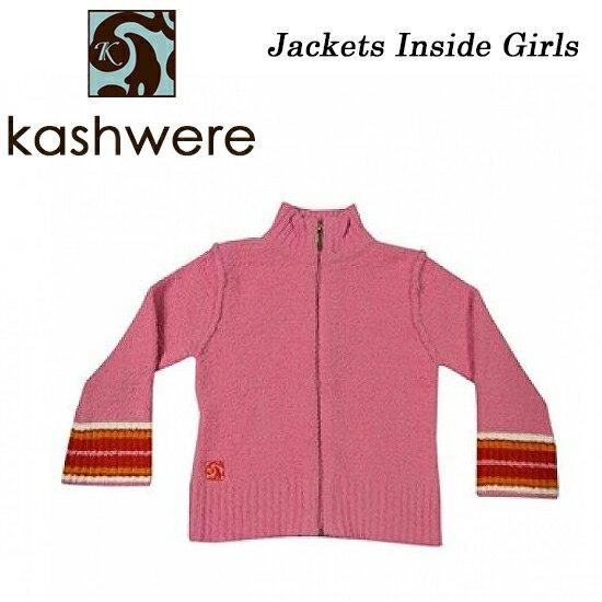 カシウェア キッズ インサイドアウト 袖口 ピンク ラズベリー ジャケット 6-7Y フード なし 対応