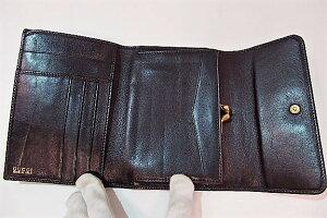 huge discount f56cb 6e784 グッチ GUCCI 財布 がま口 三つ折り財布 バンブー レザー ...