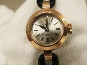 OH済ロレックスプレシジョンK18YG750アンティーク手巻きレディース腕時計シルバー文字盤☆【中古】【送料無料】bt842