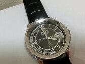 D&G ドルチェ&ガッバーナ メンズ 腕時計 ゼルマット DW-0629 クォーツ デイト ブラック文字盤 SS/レザー☆  【中古】 bt882