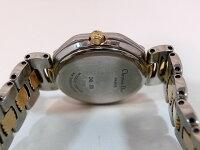 美品Diorクリスチャンディオールレディース腕時計D48-203デイトGP/SSクォーツホワイト文字盤☆【】mk316