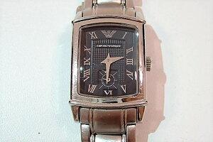 5634e34001 エンポリオアルマーニEMPORIOARMANIレディース腕時計AR0250黒ブラック文字盤シルバーブレスSSスモールセコンドスモセコ ...