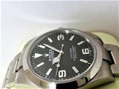 美品ロレックスエクスプローラー1214270ランダム番メンズ腕時計自動巻きATSSブラック文字盤☆【中古】【送料無料】bt1413