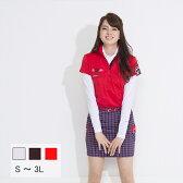 レディース ゴルフウェア ポップカラープリントポロシャツ レディース ゴルフ ポロシャツ プリントポロシャツ S〜3L 大きいサイズ BIGサイズ