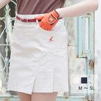 【選べる6サイズ】 ゴルフウェア レディース スカート ストレッチタックスカート M L 2L(LL XL) 3L 4L 5L 大きいサイズ ベージュ ネイビー 紺色 インナー パンツ パンツスタイル カーゴスカート ベリーボン