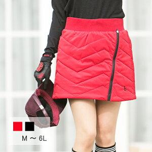 【選べる7サイズ♪】ゴルフウェア レディース スカート ジッパーライン キルティングスカート M L 2L(LL XL) 3L 4L 5L 6L 大きいサイズ インナー パンツ