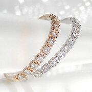 ファッション ジュエリー アクセサリー レディース ゴールド イエロー ホワイト ダイヤモンド・エタニティ・ピンキー・ダイア・ プレゼント ラッピング