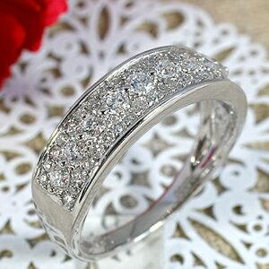 47石のダイヤモンドがまばゆい輝きを放つ大人なワンランク上の0.5カラットUPプラチナ900リング【送料無料】【PT900】【き手数料無料】【dia