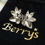 【Berry'sベリーズ】ラインストーンビジューピアス/パールピアス/ビジューピアス/アンティーク風/ゴージャス/真珠/キラキラ/パーティー/アクセサリー/クリアー【SELECT】【BIJOUX】