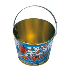 Tin bucket (large) (antique bath water play free gift toys toys old-fashioned and nostalgic Showa retro candy shop children's lunch festival festival kindergarten nursery school elementary school children's association children's party participation award ) 4/11 update ♪