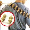 【あす楽】背中や腰など自分で マッサージ することが難しい部位もラクラク たくさんのローラーがツボにアクセス 【 ボディーマッサージャー 】