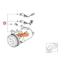 BMWエアコンコンプレッサーBEHRHELLA製3シリーズE46318Ci318iAL19コア返却不要ACコンプレッサー64528386650