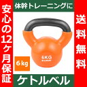 【送料無料】 ケトルベル 6kg 色:オレンジ 正規品/12ヶ月保証 体幹 トレーニング 筋トレ エクササイズ ダイエット全身 バランス 持久力 ダンベル 4kg 6kg 8kg 10kg 12kg 16kg 20kg 24kg あす楽対応