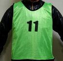 練習・試合に!ビブス1〜12番12枚セットグリーン緑オレンジ橙フットサルサッカーテニスバスケットボールバスケメッシュベストユニフォームベストメッシュイベントサバゲーサバイバルゲームゼッケン防災作業着メンズレディースおしゃれかっこいい