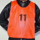 練習・試合に!ビブス1〜12番12枚セット【グリーン緑オレンジ橙フットサルサッカーテニスバスケットボールバスケメッシュベストユニフォームベストメッシュイベントサバゲーサバイバルゲームゼッケン防災作業着マラソン201407_送料込み10P05July14】