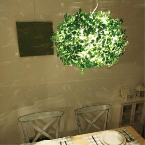 ペンダントランプオーランドL|DICLASSEディクラッセ照明天井照明シャンデリアシーリングライトデザイナーズナチュラルクラシックモダンシンプルグリーン葉っぱ造花アーティフィシャルグリーン
