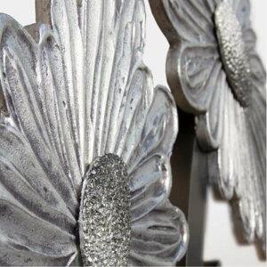 ハンガーラック|PINTDECORDAISYP4506ピントデコールイタリアモダンアートリビングダイナミックデコラティブミックステクスチャー立体ハンドメイドオブジェホテルライク壁付けコートスタンドモダン新居シルバーデイジーマーガレット