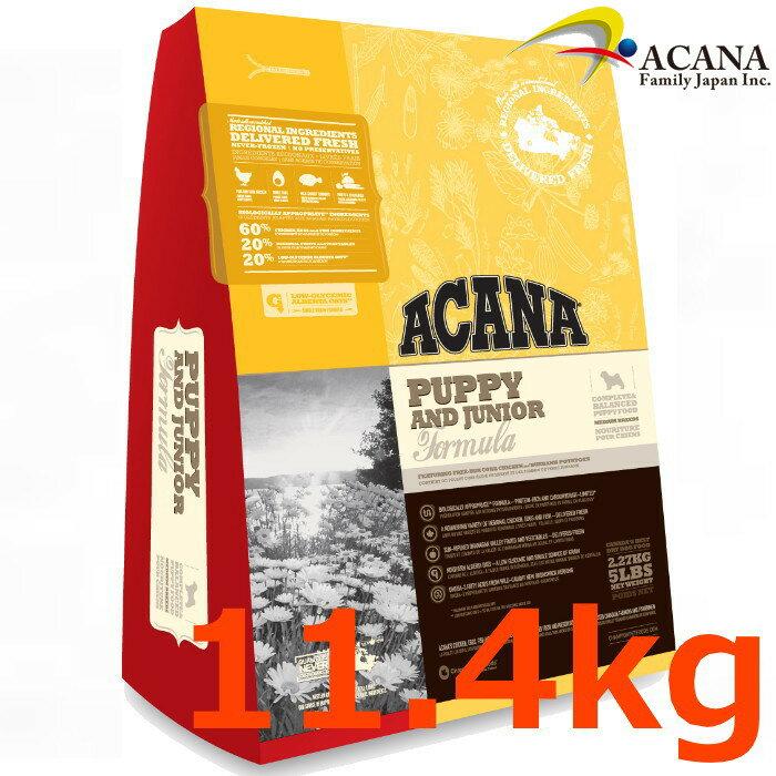 アカナパピー&ジュニア 11.4Kg中型犬子犬用【ACANA、アカナパピーアンドジュニア 、アカナドライフード】