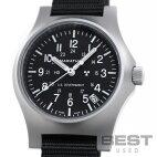【仮】マラソン【MARATHON】ジェネラルパーパスフィールドウォッチクォーツデイトWW194015SS(1024-94015SS)メンズブラックステンレススティール腕時計時計GENERALPURPOSEFIELDWATCHQUARTZDATEBLACKSS【中古】