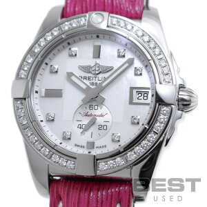 Breitling [BREITLING] Galactic 36 A37330(A373A21HBA) Ladies White Shell Stainless Steel Watch Watch GALACTIC 36 WHITE SHELL SS Diamond Bezel D8P Diamond MOP [Used]