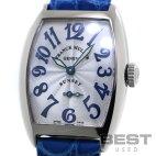 【仮】フランク・ミュラー【FRANCKMULLER】トノーカーベックスサンセット1750S6SUNOGレディースシルバーK18ホワイトゴールド腕時計時計TONNEAUCARVEXSUNSETSILVERK18WG【中古】