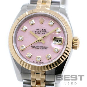 Rolex [ROLEX] Oyster Perpetual Datejust 179173OPG Ladies Pink Opal K18 Yellow Gold/Stainless Steel Watch Watch OYSTER PERPETUAL DATEJUST PINK OPAL K18YG/SS Combi D10P Diamond [Used]