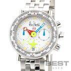 【仮】アラン・シルベスタイン【ALAINSILBERSTEIN】マリーンAクロノグラフMA22メンズホワイトステンレススティール腕時計時計MARINEACHRONOGRAPHWHITESS【中古】