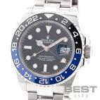 【仮】ロレックス【ROLEX】GMTマスター2116710BLNRメンズブラックステンレススティール腕時計時計GMT-MASTER2BLACKSS【中古】