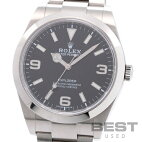 【仮】ロレックス【ROLEX】エクスプローラー1214270メンズブラックステンレススティール腕時計時計EXPLORER1BLACKSS【中古】
