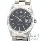 【仮】ロレックス【ROLEX】オイスターパーペチュアルデイト15200メンズブラックステンレススティール腕時計時計OYSTERPERPETUALDATEBLACKSS【中古】