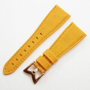 GAGA MILANO [GAGA MILANO]真正的尼龙皮带尼龙带替换带表带表带表带手表约。25mm表壳宽度:48mm深黄色深黄色尼龙[插座] [新]