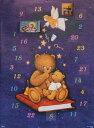 アドベントカレンダー ドイツ製 クリスマス クリスマスイブ カレンダー カウントダウン サンタクロース トナカイ ギフト ヨーロッパ 北欧 可愛い イベント インテリア クリスマス カレンダー おもちゃ サンタ プレゼント 子供 喜ぶ 孫 Bear&Angel 輸入