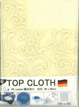 ペーパーテーブルクロス トップクロス 撥水加工 ドイツ製 不織布 トップクロス紙 ペーパートップクロス 80X80cm シャンパンカラー 西洋唐草模様 枠柄