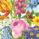 カスパリ ペーパーナプキン デコパージュ ペーパーナプキン おしゃれ ホームパーティー 花柄 好きにも 紙ナプキン ランチサイズ ドイツ ペーパーナプキン素敵 可愛い 女子会 誕生日 パーティー 高品質 ラッピング BBQ 20枚入 25x25cmNew York Botanical Garden 柄
