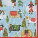 カスパリ ペーパーナプキン クリスマス デコパージュ ペーパーナプキン おしゃれ ホームパーティー 北欧 好きにも 紙ナプキン ランチサイズ ドイツ ペ