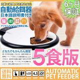 【送料無料】自動給餌器ホワイト(小)オートペットフィーダー5食分犬猫エサやりドッグフードペットフードペット用品グッズ