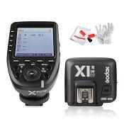 【正規品】GodoxXpro-N送信機+GodoxTTLX1R-N受信機TTL2.4Gワイヤレスフラッシュトリガー高速同期1/8000sXシステムNikon一眼レフカメラ対応技適マーク付き