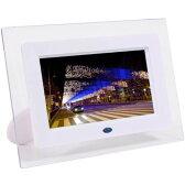 ◆7インチ静止画&動画機能/MP3対応USB&SDスロットガード搭載【ITPROTECH】IPT-DF70-W